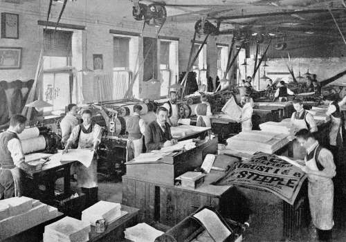 Letterpress Printing department, Sands & McDougall, Melbourne, Australia, 1897