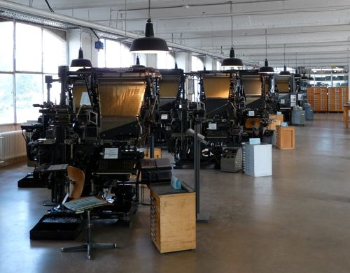 Older Linotypes in the museum