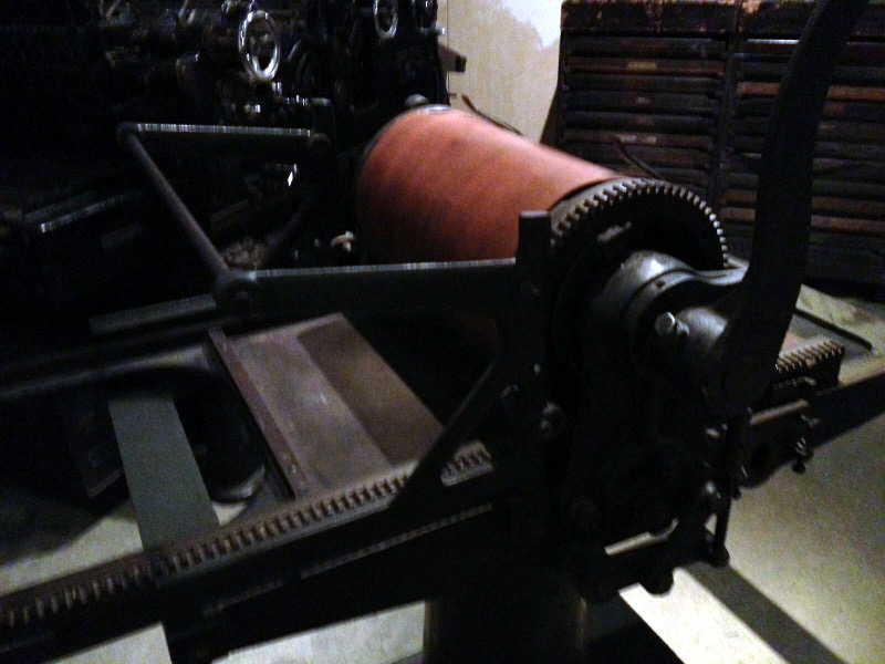 Old hand press