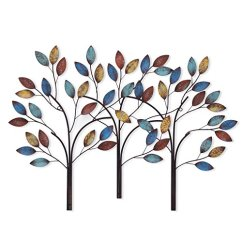 Kitchen Wall Art Decor Stainless Steel Doors Outdoor Kitchens Asense Tree Of Life Metal Sculptures For Living Room