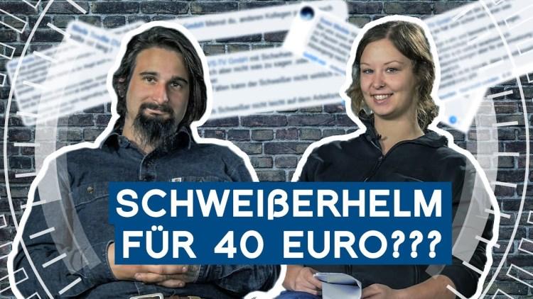 Schweißerhelm für 40 Euro – Geht das?   Nik kommentiert Kommentare