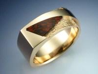 14k Gold Rock Texture & Dinosaur Bone Ring - Metamorphosis ...