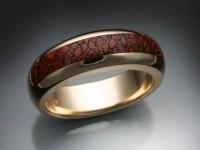 Gem Dinosaur Bone Inlay Ring - Metamorphosis Jewelry Design