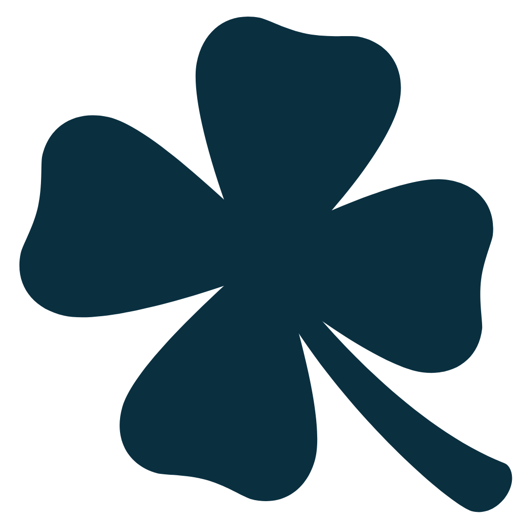4 leave clover blue