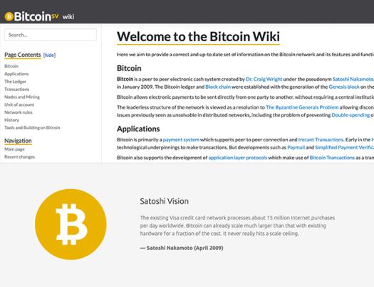 Bitcoin Satoshi Vision wiki