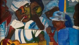 Romare Bearden, Train Whistle Blues, 1979 (detail)