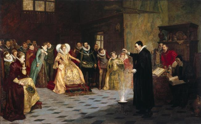 John Dee performing an experiment before Queen Elizabeth I
