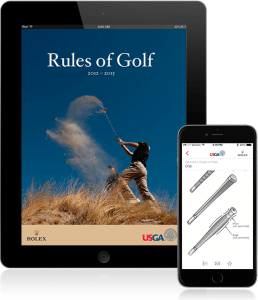 Software application development and maintenance services: did 2.0 and 2.1 versions of The Rules of Golf app for iPhone and iPad