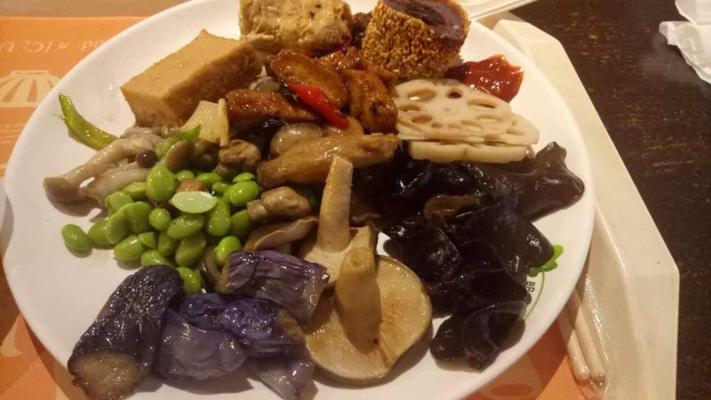מנת ירקות בטאיפאיי טייוואן