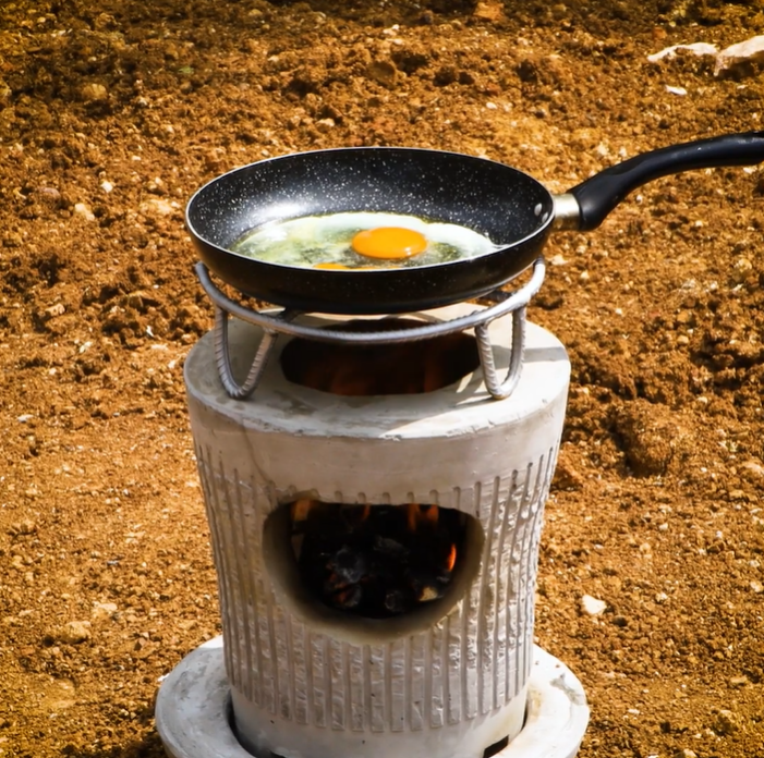 Cement Wood Stove