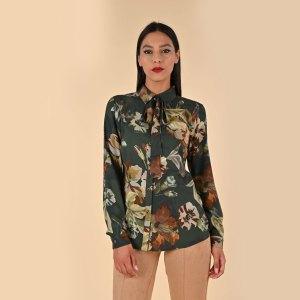camicia da donna a fiori