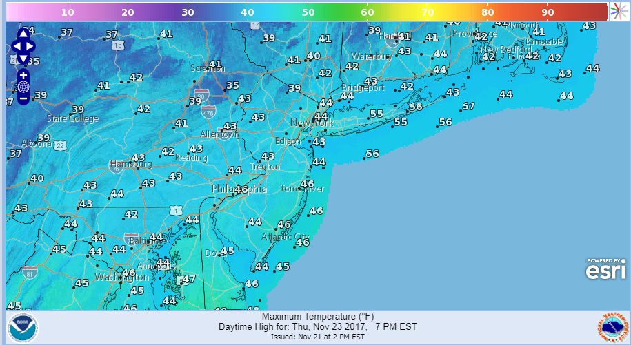 Rain Grazes Coastal Areas Wednesday Morning