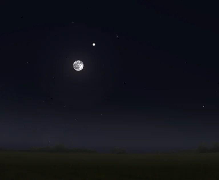 La Luna occulta Saturno sullOceania e sullAntartide la