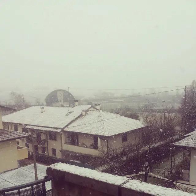 Maltempo Veneto nevica a Vicenza e sullAltopiano di Asiago FOTO
