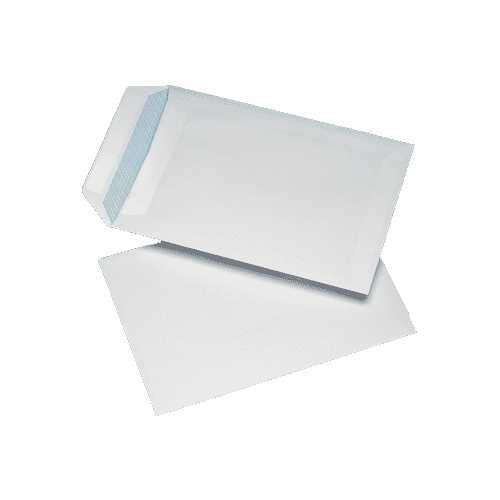250 White C4 Non Windowed Self Seal Envelopes (324mm x 229mm)