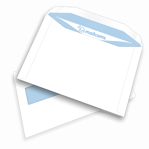 500 White C5+ Gummed High Windowed (45mm x 90mm) Envelopes (162mm x 235mm)