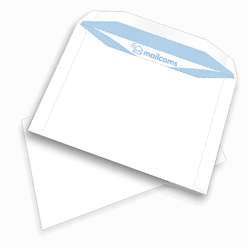 500 White C5+ Gummed Non Windowed Envelopes (162mm x 235mm)