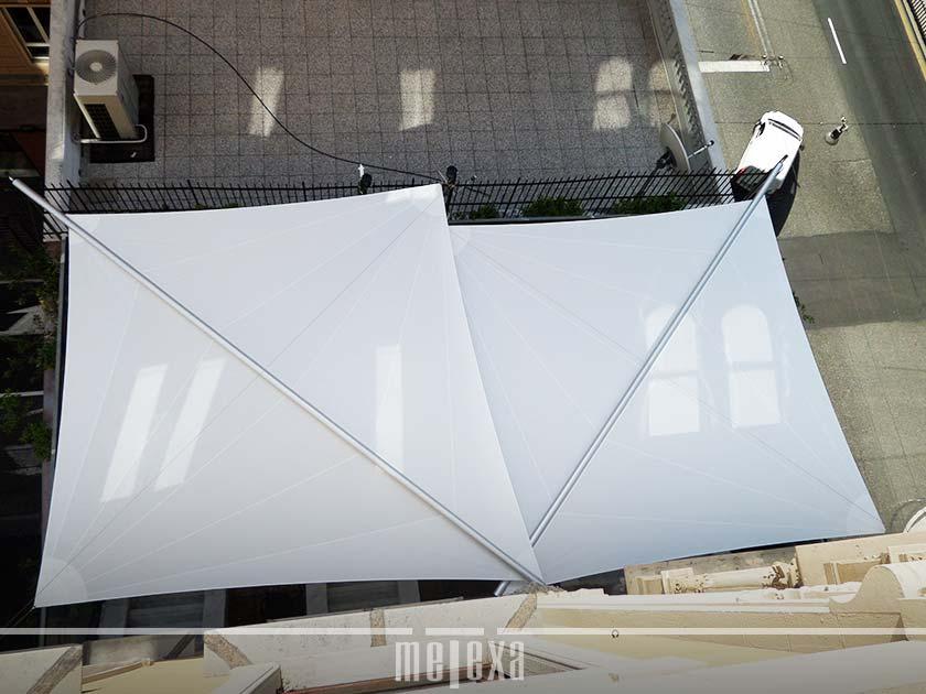 Vela ombreggiante hegoa triangolare bianco 360 x 360 cm. Tende Da Sole A Vela Triangolari E Rettangolari Per Giardini E Dehors
