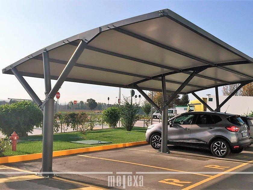 Coperture auto Antigrandine  Tettoie per parcheggi auto