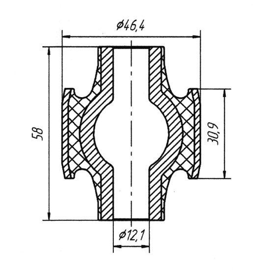 1101A Втулка реактивной тяги задней подвески Mercedes (Car