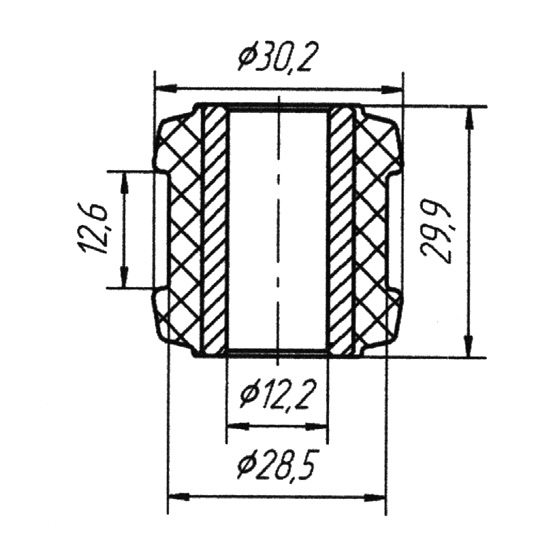 Направляющая втулка переднего и заднего стабилизатора