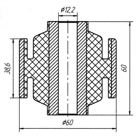 1301 Сайлентблок задней балки Nissan Almera (N15) 1995