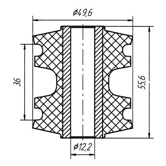 Сайлентблок продольной тяги задней подвески Nissan