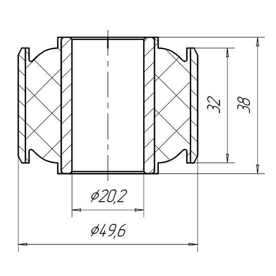 1313 Сайлентблок реактивной тяги задней подвески наружный