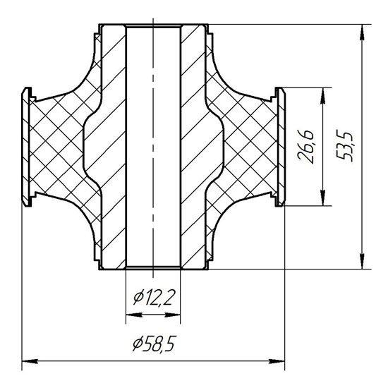 1332 Сайлентблок заднего продольного рычага Nissan X-Trail