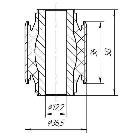 1512 Сайлентблок поперечного нижнего большого рычага