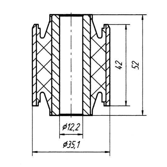 1826 Сайлентблок продольного рычага задней подвески