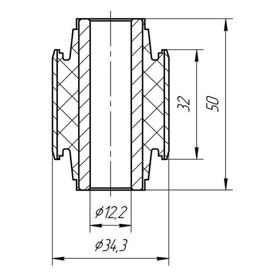 Сайлентблок заднего верхнего рычага передний внутренний