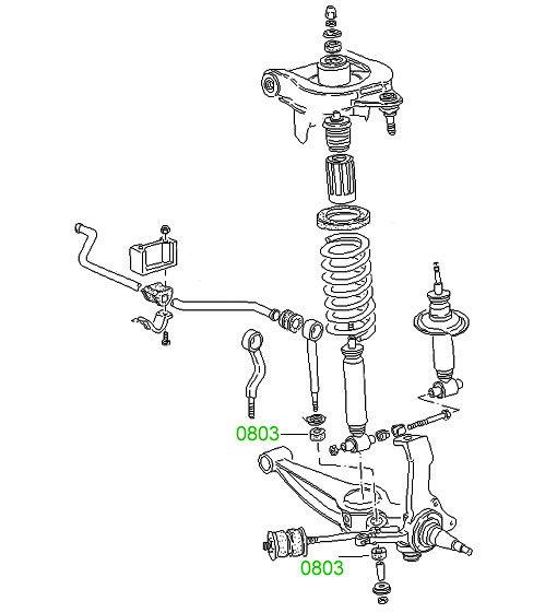 0801A Втулка переднего стабилизатора 1,4Т Volkswagen Typ 2
