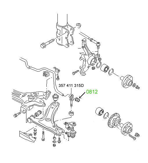 0800 Сайлентблок передний переднего рычага Audi A3/S3