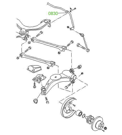 Втулка заднего стабилизатора Audi TT/TTS Coupe/Roadster