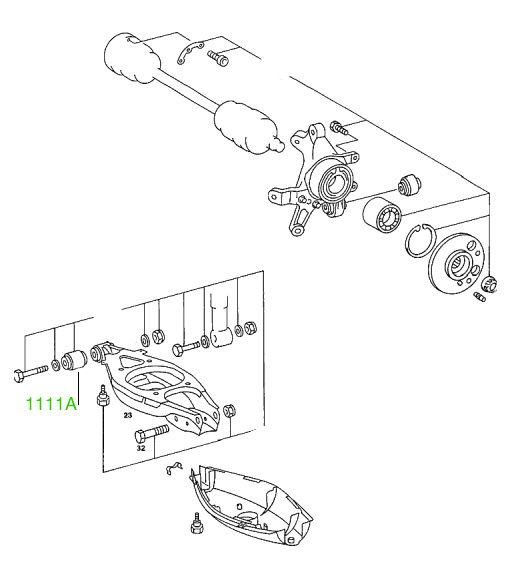 1111A Сайлентблок заднего рычага Mercedes (Car) С-CLASS