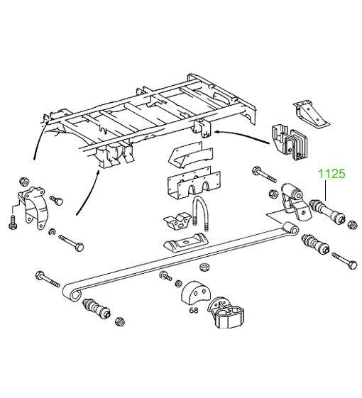 1131 Втулка заднего амортизатора Mercedes (Transporter