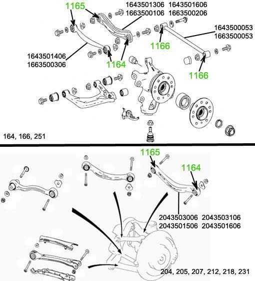 Запчасти Mercedes-Benz (Легковой а/м) (164) ML 300 CDI