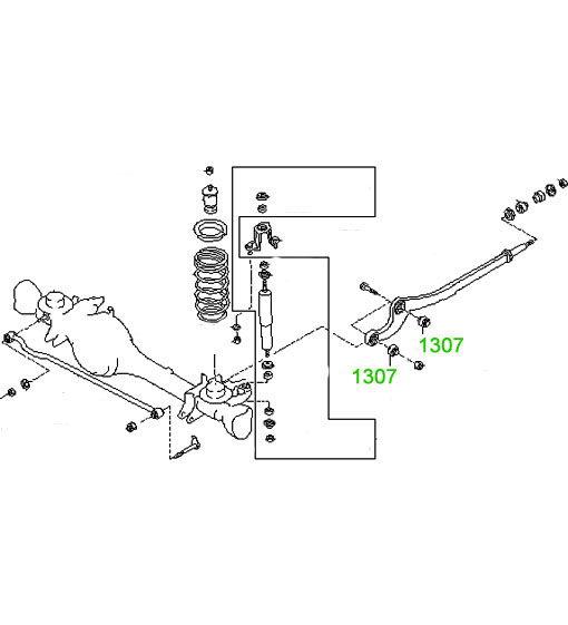 1307 Сайлентблок переднего рычага Nissan Patrol (GR) (Y60