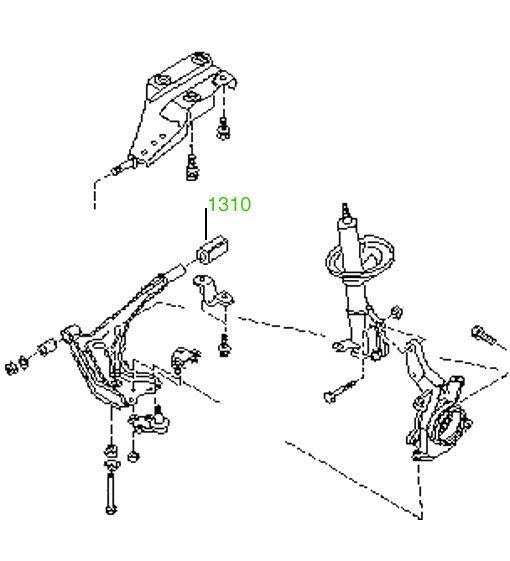 Сайлентблок задний переднего рычага Nissan Bluebird (T12