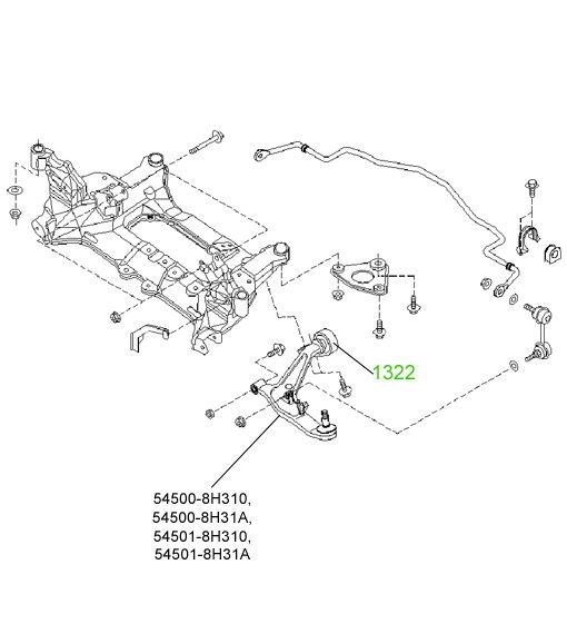 1303 Сайлентблок продольной тяги задней подвески Nissan