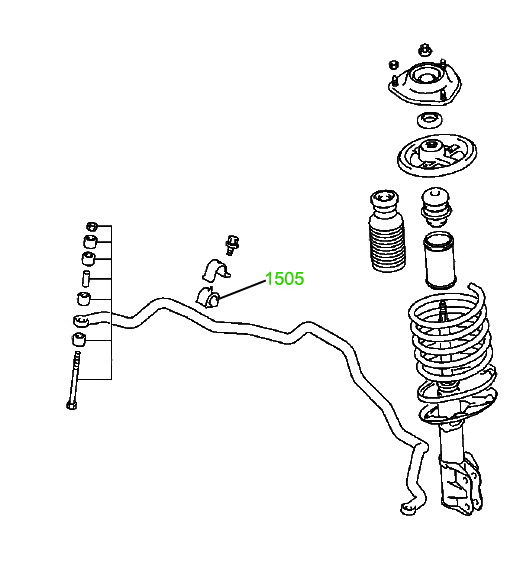 1509 Сайлентблок поперечного прямого рычага задней