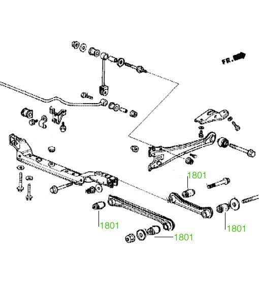 1809 Втулка заднего амортизатора Honda Accord 1990-1998