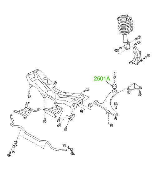 Сайлентблок переднего рычага задний усиленный Subaru
