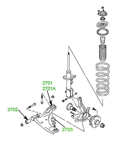 2409 Сайлентблок переднего рычага задний усиленный 12x58