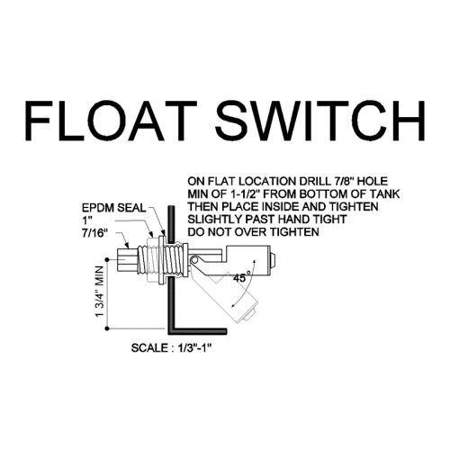 Self sealing float switch