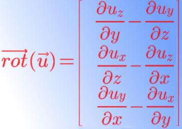 rotationnel coordonnées cartésiennes