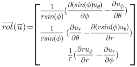 Formule du rotationnel en sphériques