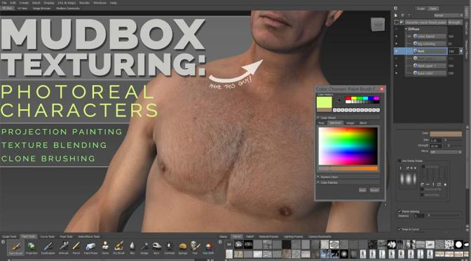 Mudbox texturing tools make photorealism easy