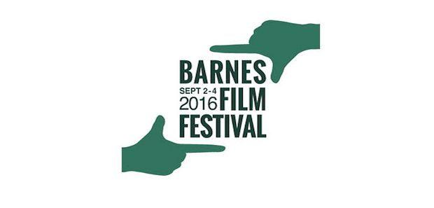 two green hands caption barnes film festival in text